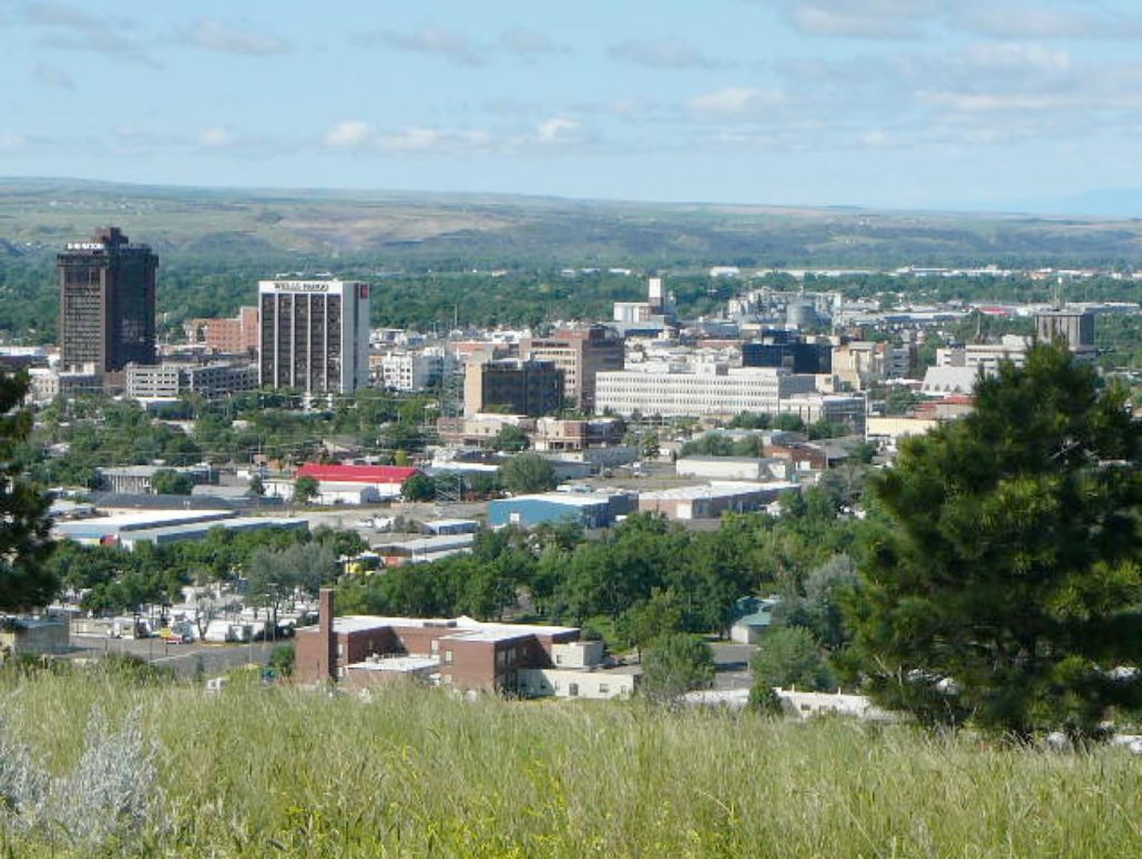 city of Billings Mt downtown